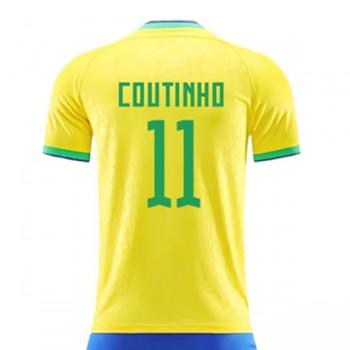 ae68af095ff745 Maglie Nazionali Di Calcio Brasile Coppa del Mondo 2018 Philippe Coutinho  11 Prima Divisa
