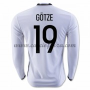 Maglie Nazionali Di Calcio Germania 2016 Long Sleeve Gotze 19 Home Soccer Jersey..