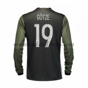Maglie Nazionali Di Calcio Germania 2016 Short Long Gotze 19 Away Soccer Jersey..
