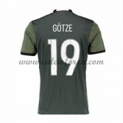 Maglie Nazionali Di Calcio Germania 2016 Short Sleeve Gotze 19 Away Soccer Jersey..