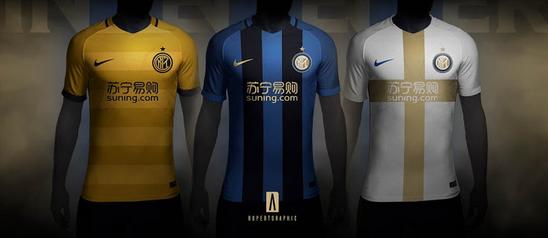 new arrival 467b3 d1675 Rupertgraphic per il Milan internazionale ha progettato questa maglia  domestica combinata con gli elementi iconici blu e nero della jersey, il  torace Suning ...