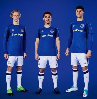 best service 2d67a 3ec09 Everton ha rilasciato la maglia domestica della stagione 2017-18